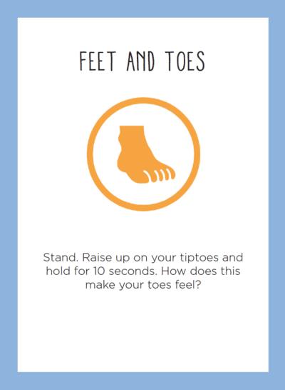 IA Activity Card Sample Feet