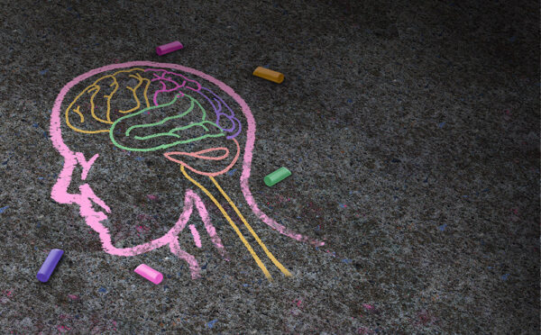 chalk drawing of a mind